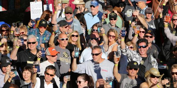 Cheers from the Buffs on Tap 2018 crowd.