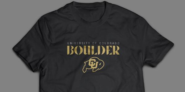 T-Shirt with University of Colorado Boulder and CU logo