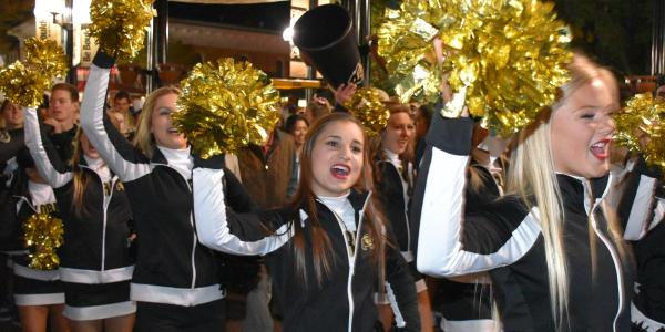 The Homecoming Parade takes over the Pearl Street Mall during Homecoming.