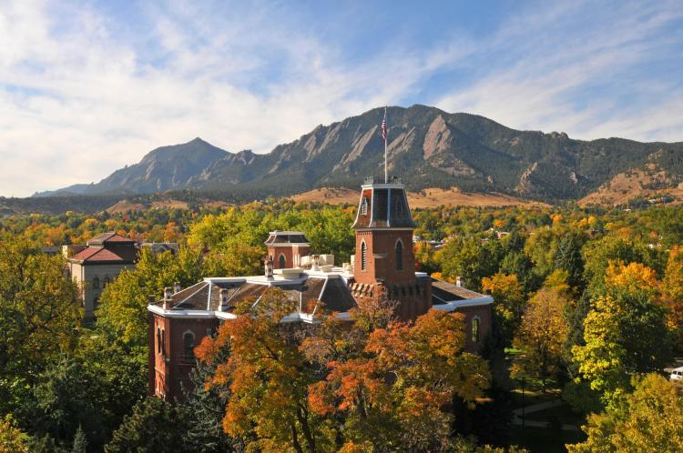 Old Main in the fall.