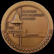 alumni recognition award medal
