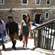 CU Students at farrand hall