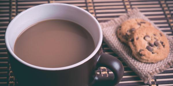 Cup of coffee and a cookie
