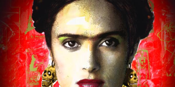 Poster for the movie Frida, starring Salma Hayek.