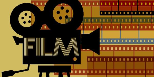Artwork of a film projector