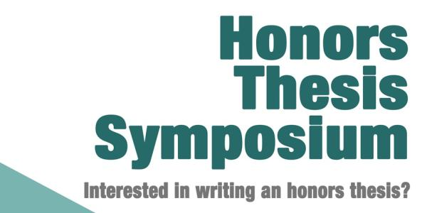Honors Thesis Symposium Poster