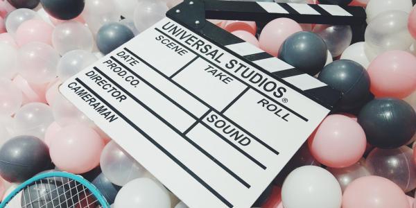 Film clap board from Universal Studios