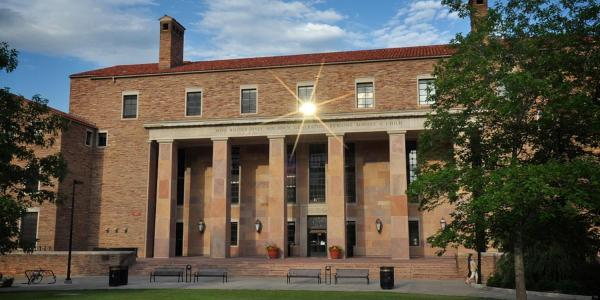 Norlin Library in the sunshine
