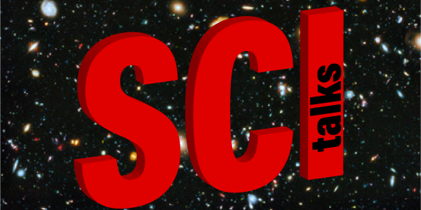 The Big Bang background with Sci Talks superimposed