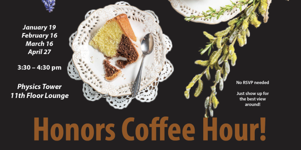 Flier for the Honors Coffee Hour.