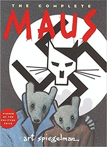 "The cover of Art Spiegelman's graphic novel ""Maus"""
