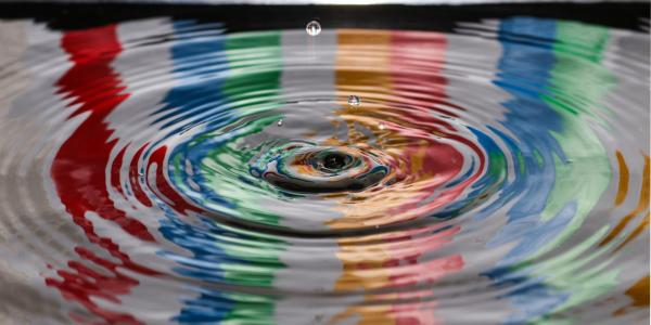 Water ripples over colors