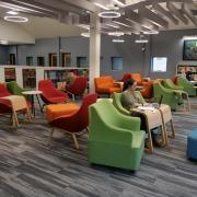 CU Boulder Library lobby