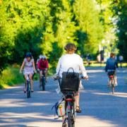 Employees Biking to Work