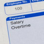 Paystub showing overtime