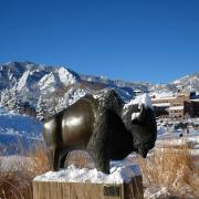 Snow on Boulder Campus