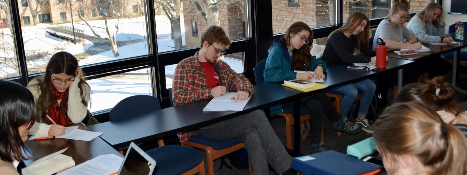 students during class in Smith Hall