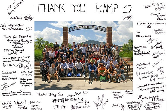Thank you I-CAMP 2012 Poster