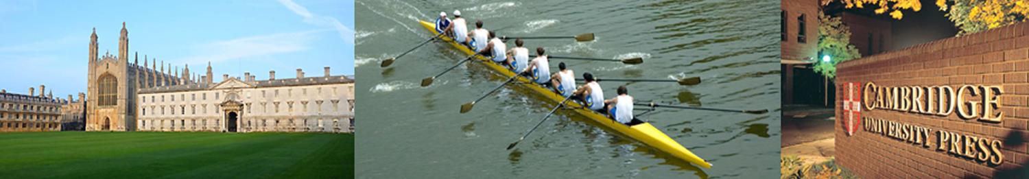Cambridge University Grounds, Rowing Team, and Sign