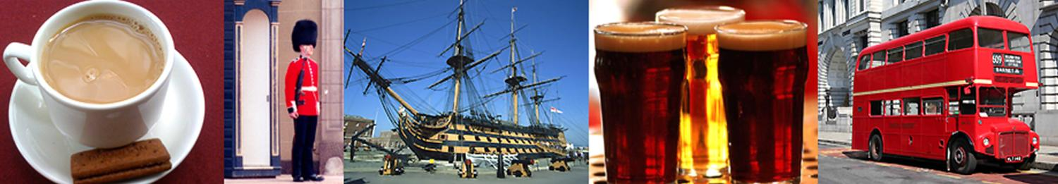 Cambridge City, Cup of Tea, Guard, Historical Ship, Pints of beer, and double-decker bus