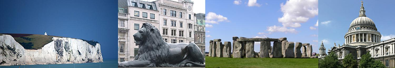 United Kingdom Scenes, Cliffs of Dover, Historical Buildings, and Stonehenge