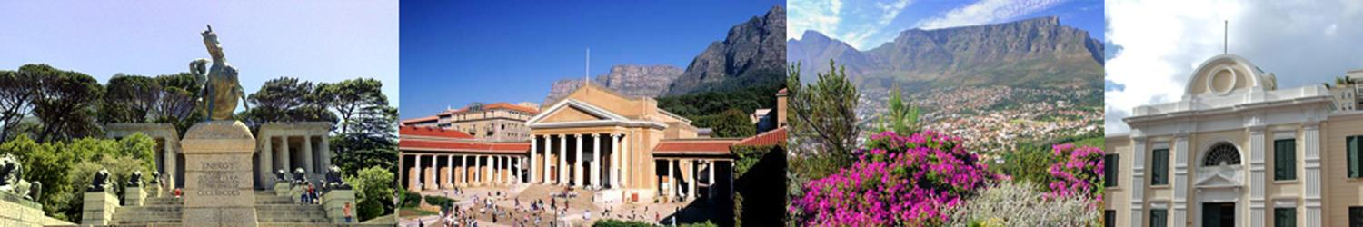 South African Statues, Mountains, and Historical Buildings