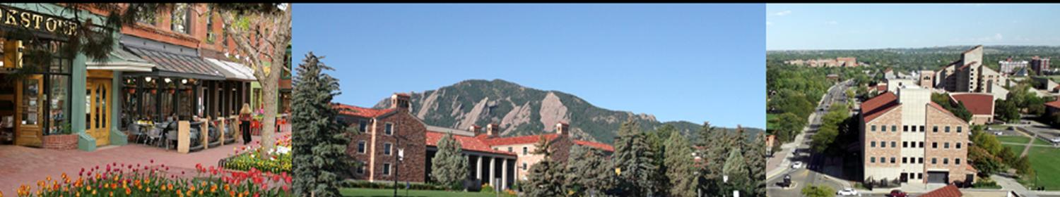 Downtown Boulder, CU Campus, and the Benson Earth Sciences Building