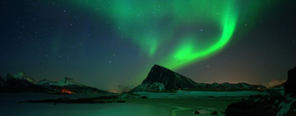 Aurora Borealis at Sandnes, Lofoten Islands, Norway