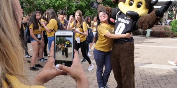 The 2019 ODECE ice cream social at the University of Colorado Boulder. (Photo by Casey A. Cass/University of Colorado)