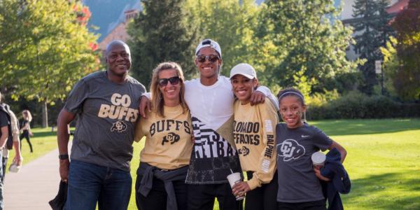 Family Weekend on CU Boulder campus taken on October 2017. (Photo by Glenn Asakawa/University of Colorado)