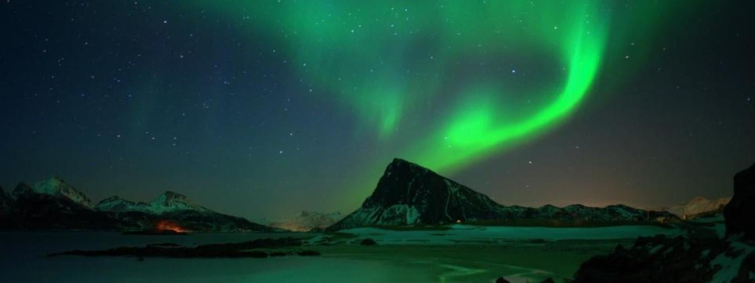 photo of borealis lights in the arctic