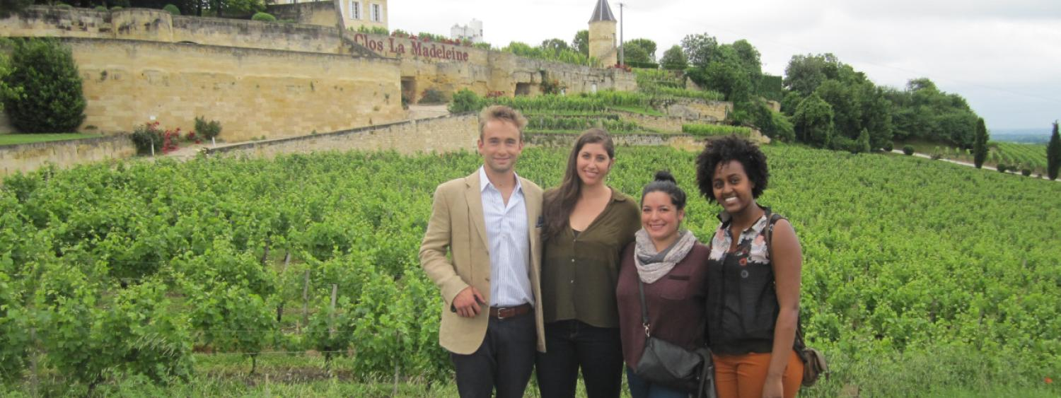 group of students in bordeaux