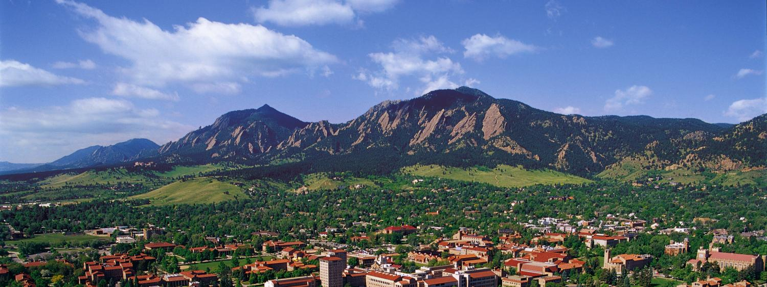 flatirons and cu boulder campus