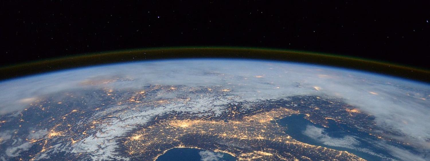 aerial view of earth from space