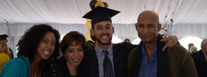 graduate and 3 family members