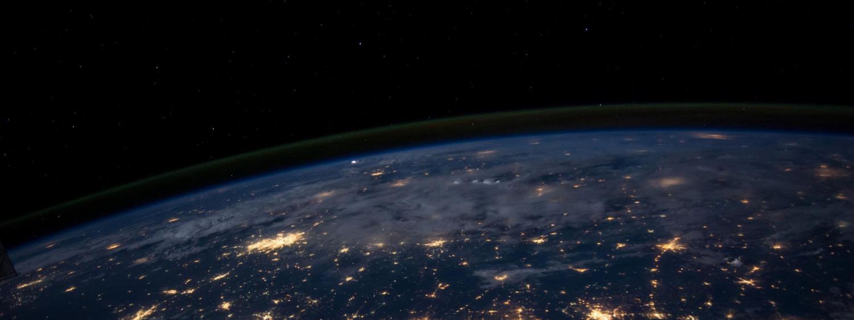 nasa view of earth lit up at night