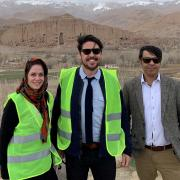 rory burke and two other people in bamyan, afghanistan