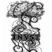 INVST logo in black and white