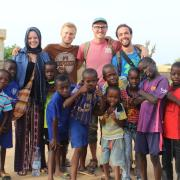mattson and kids in senegal