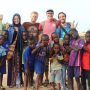 mattson and kids in senegal
