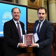 tom holding honorary appt with argentine senator