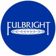 fulbright logo in blue circle