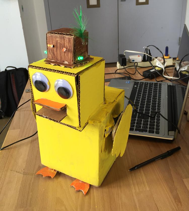 Paper duck robot.