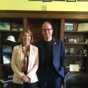 Dr. Banich with Congressman Jared Polis.
