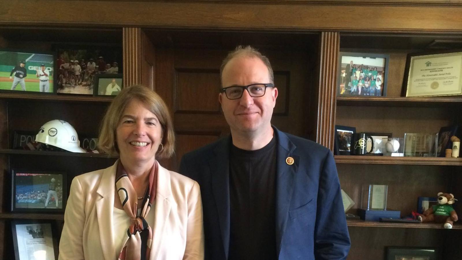 Dr. Banich with Congressman Jared Polis.