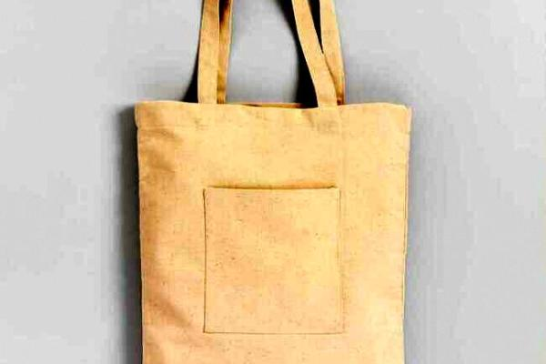 canvas tote with pocket