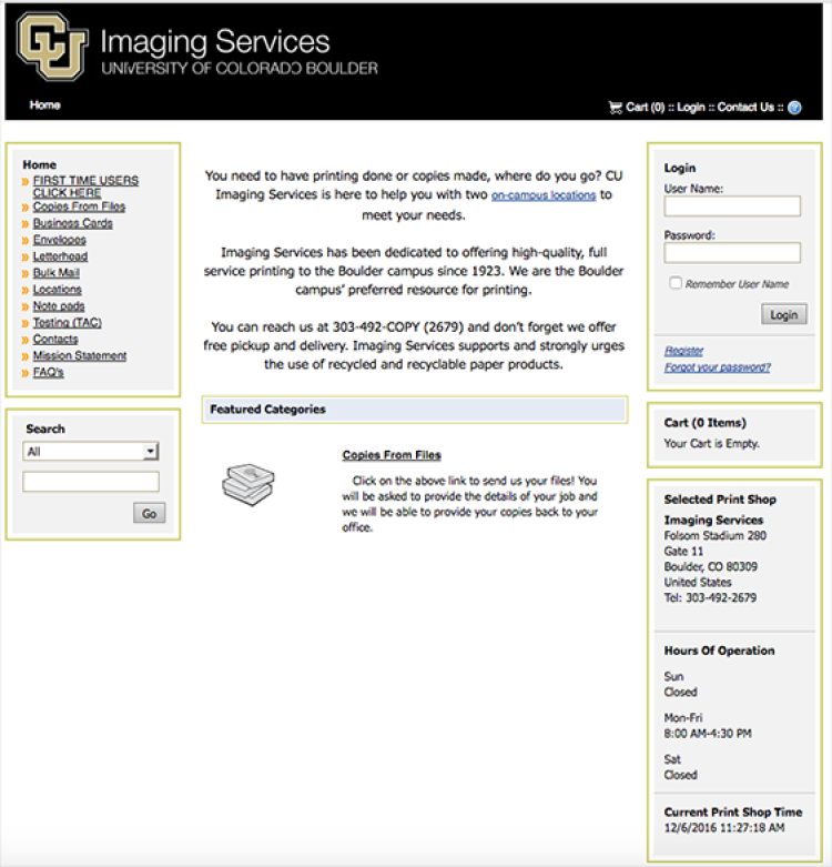 Order online imaging services university of colorado boulder reheart Image collections