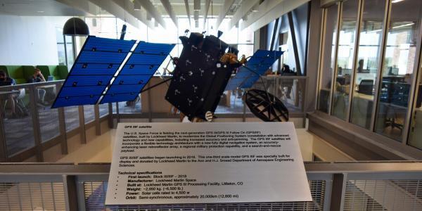 Satelite in Aerospace Building