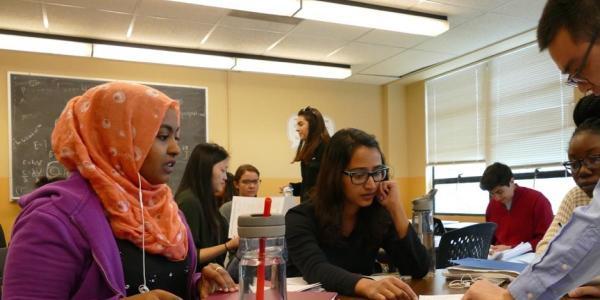 Prospective Graduate Students in classroom