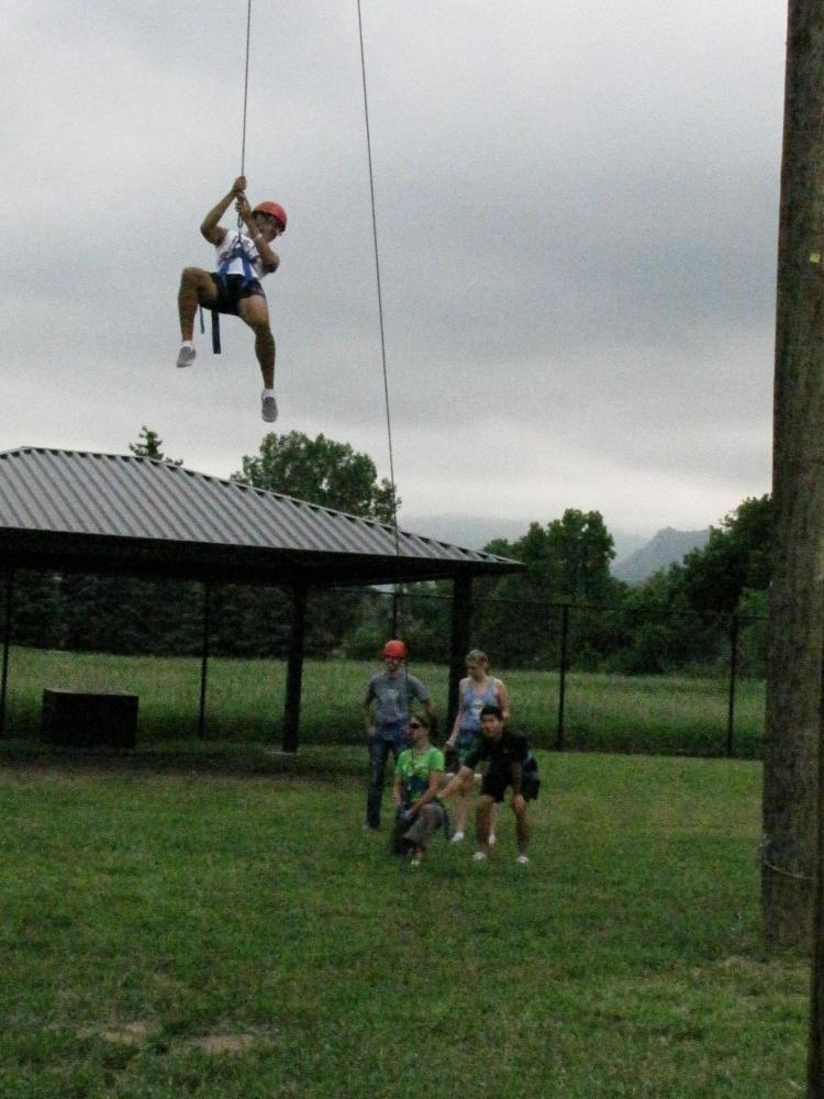 Interns take the CU Challenge Course the first week